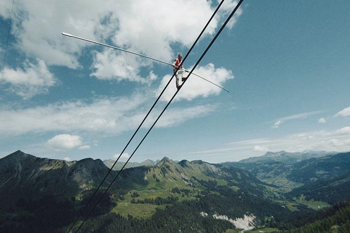 The Glacier 3000 Air Show in Switzerland