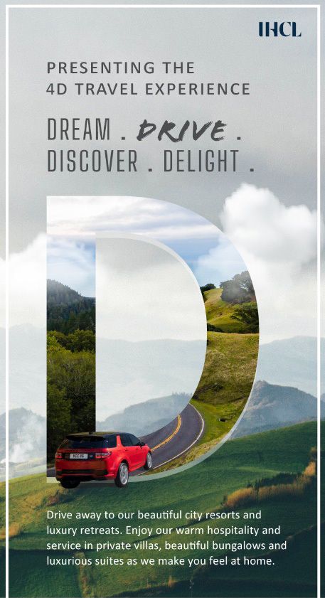 4D TRAVEL – DREAM, DRIVE, DISCOVER, DELIGHT-IHCL