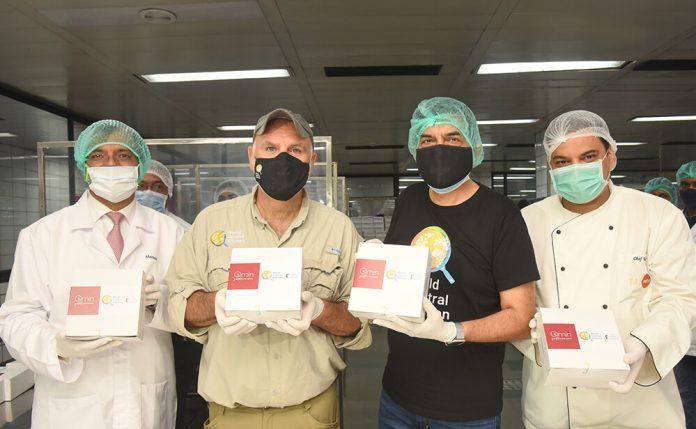 From left to right – Manish Gupta, CEO – TajSATS; Chef José Andrés – Founder, World Central Kitchen; Chef Sanjeev Kapoor; Chef Rajendra Nayal, executive chef, TajSATS Mumbai