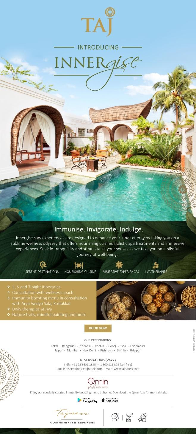 This International Yoga Day, Taj Hotels introduces INNERgise